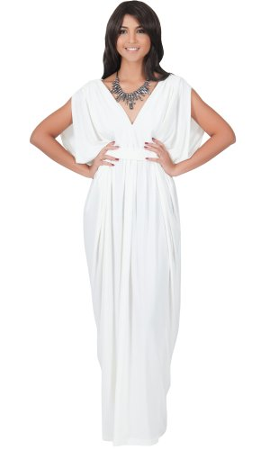 Womens Grecian Style Dress - 2
