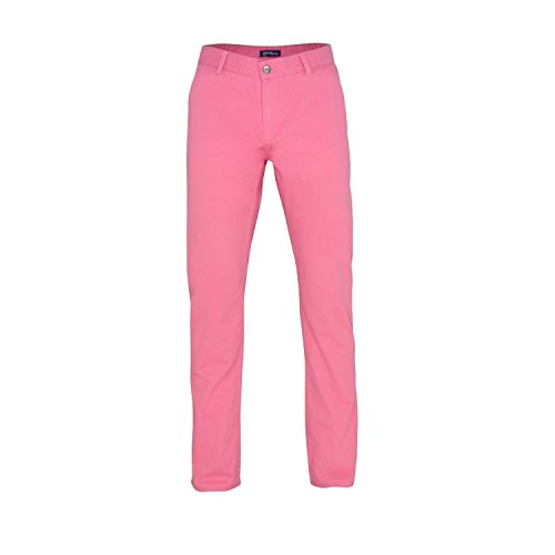 Asquith & Fox Mens Classic Casual Chino Pants/Trousers (34L) (Pink (Pink Chino)