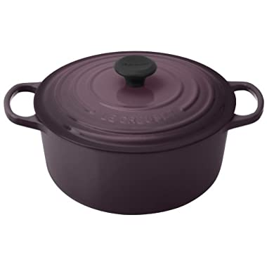 Le Creuset Signature Enameled Cast-Iron 5-1/2-Quart Round French (Dutch) Oven, Cassis