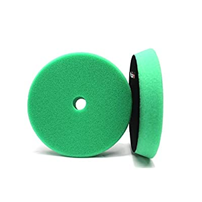 Maxshine High Pro Foam Pad- Perfectly Used with DA/RO Polisher (6.2 inches/ 155-175X30mm, Green Foam Heavy Cutting Pad): Automotive