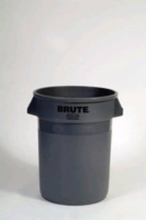 Waste Receptacle Brute - Grey LLDPE Round - 44 Gallon