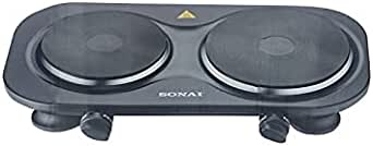 Sonai SH-360 Double Electric Hot Plate - 2500 Watt, Black