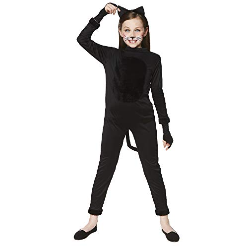 Girl's Cat Suit Costume - for Halloween, Costume Party Accessory - Small