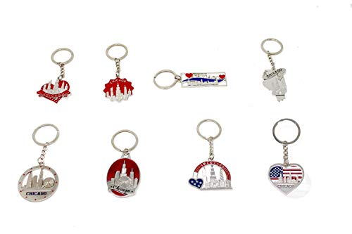 - City of Chicago Souvenir Key Holders (Set of 8)