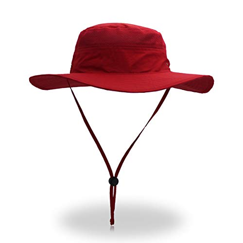 belababy Outdoor Sun Hat Quick-Dry Breathable Mesh Hat Camping Cap Red (Hat Adjustable Ladies Red)