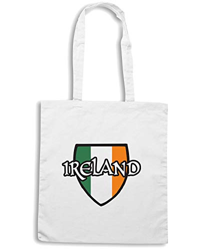 IRELAND TIR0251 Shopper Borsa Bianca Speed Shirt qU1Ax6wIX