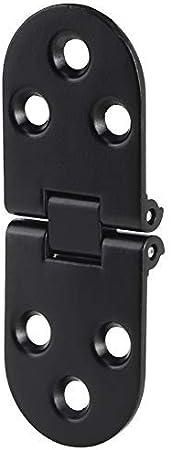 AUNMAS 4Pcs Aleación de Zinc Bisagra de Puerta Negra Tapa de Mesa Plegable Levante Stay Damper Buffer Flip Bisagra para gabinete Accesorio de Hardware