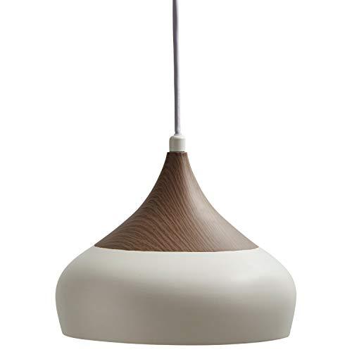 Walnut Finish Pendants - Stone & Beam Modern Sleek Walnut Finish on Metal Pendant Light with Bulb, 81