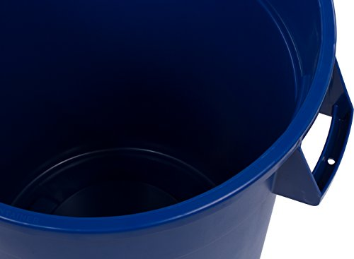 Carlisle 341032REC14 Bronco LLDPE Recycle Waste Container, 32-gal. Capacity, 22.37 x 27-3/4, Blue (Case of 4) by Carlisle (Image #1)