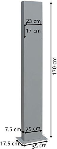 V2aox Briefkasten Standfu/ß Briefkastenst/änder St/änder Freistehend Rund Anthrazit