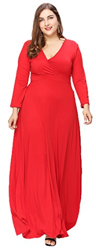 Eazyhurry - Vestido - para mujer Rosso