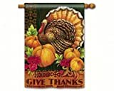 Cheap Magnet Works MAIL91026 Give Thanks Turkey Standard Flag
