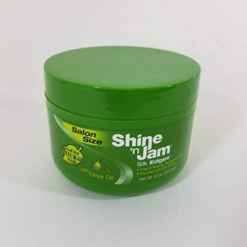 Ampro Pro Styl Shine 'N Jam Silk Edges with Olive Oil Salon Size 8 OZ
