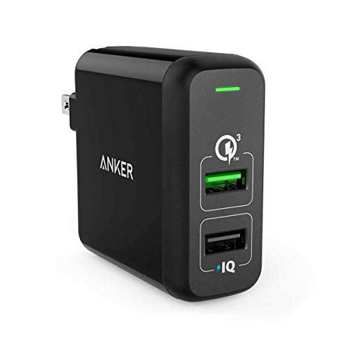 Quick Charge 3.0, Anker 31.5W Dual USB Wall Charger PowerPor