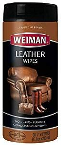 Weiman Wipes-Non Toxic Clean Condition UV Protection Help Prevent Cracking or Fading of Leather Couches, Car Seats, Shoes, Purses, Clear, 30 Count (3)