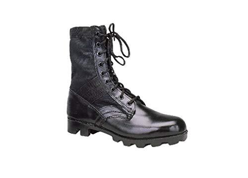 Steel Toe Jungle - Black GI Style Jungle Boot with Panama Sole and Steel Toe