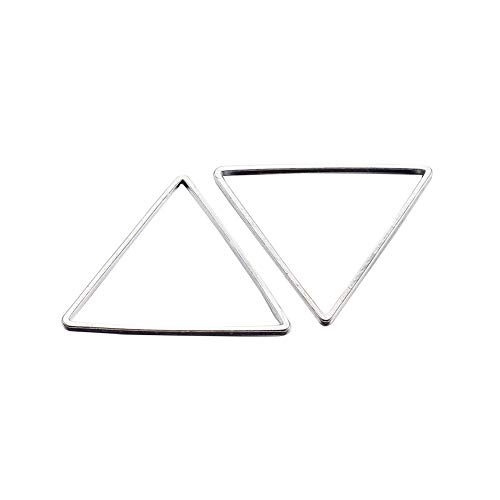 (PandaHall 50pcs Triangle Open Bezel Charm Blank Frame Hollow Pendant for UV Resin Crafts Jewelry Making Silver)
