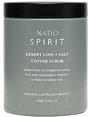 Natio Spirit Desert Lime + Salt Coffee Scrub, 300 g