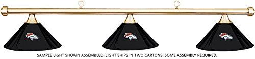 (Imperial NFL Denver Broncos Black Metal Shade & Brass Bar Billiard Pool Table Light)