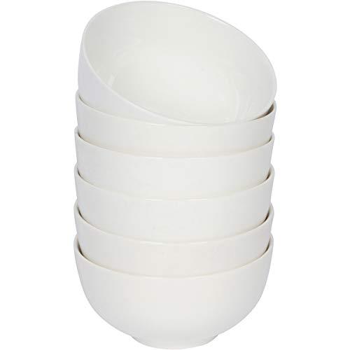 OLIO 16 Oz White Ceramic Bowls with Classic Round Design, Set of - Ounce Bowl 16