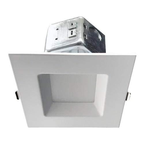 Morris 72647 LED Square Downlight - New Construction 4'' 10W 4000K Smooth Trim