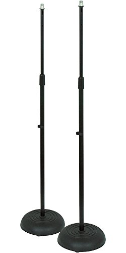 Musician's Gear Die-Cast Mic Stand 2-Pack Black