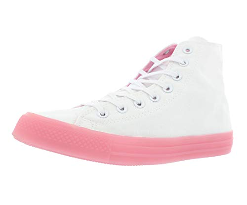 Converse Women's Chuck Taylor All Star Candy Coated High Top Sneaker, White/Cherry Blossom, 8.5 M US
