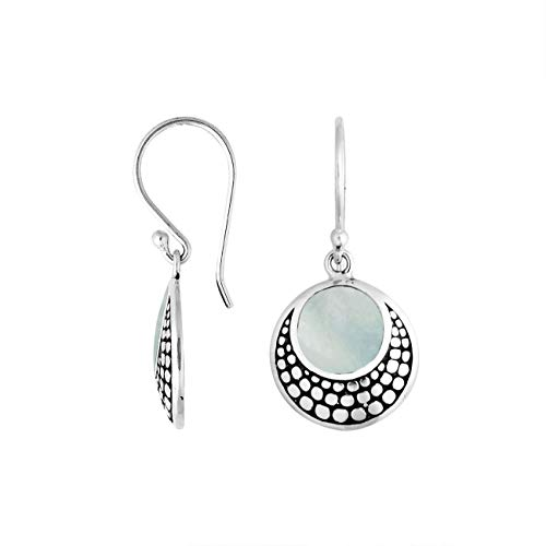 Sterling Silver Earring with Mother of Pearl AE-6259-MOP ()