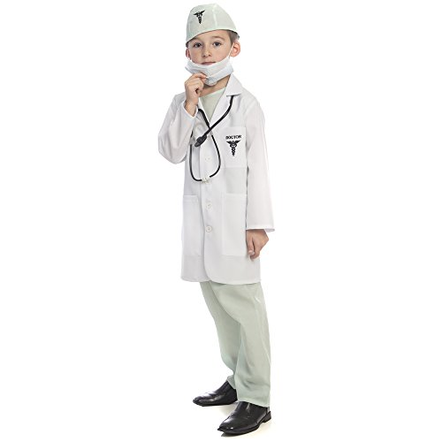 Dress Up America Award Winning Deluxe Doctor Dress up Costume Set,Multi Colored,Large 12-14 (41