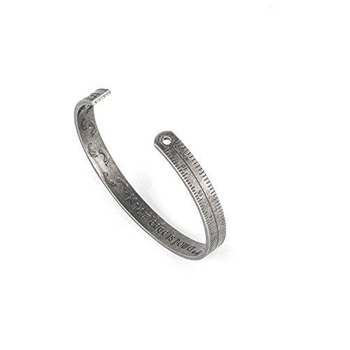GAOQQ Creative Ruler Bracelet Retro Lovers' Open Hand Ring Titanium Steel Leisure Hand Ornaments(1 Piece),PalaeoSilver