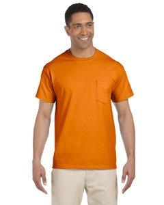 Gildan Ultra Cotton - Short-Sleeve T-Shirt with Pocket. 2300 - Small - Safety Orange ()
