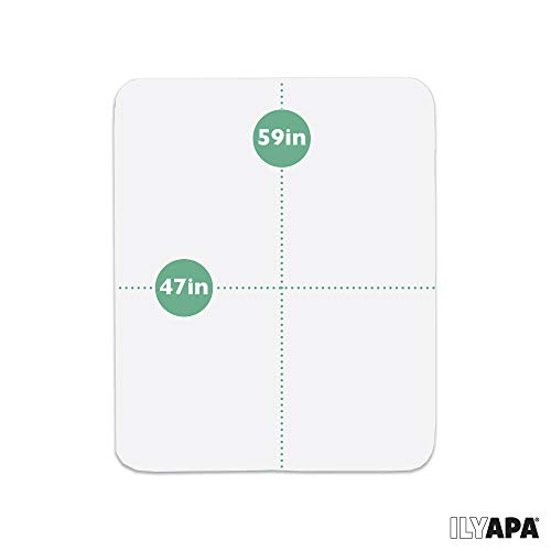 Office Chair Mat for Hard Floors 59 x 47 - Clear Hardwood Mat for Desk Chairs by Ilyapa (Image #1)