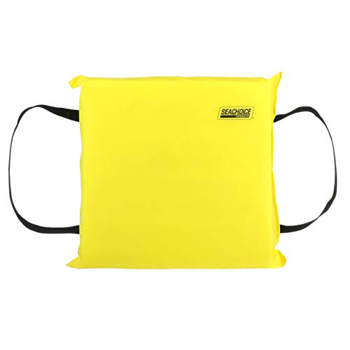 SEACHOICE 44900 Foam Emergency Marine Flotation Cushion 15-Inch x 15-Inch, Safety Yellow ()