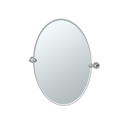 Gatco 4689 Channel Oval Mirror, Chrome