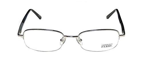 gianfranco-ferre-21802-mens-ophthalmic-brand-name-designer-half-rim-eyeglasses-eyewear-53-19-135-sil