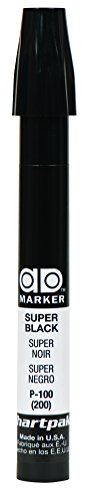The Original Chartpak AD Marker, Tri-Nib, Super Black, 1 Each (P100) from Chartpak, Inc.