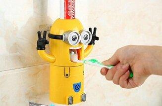 yostyle Despicable Me Minions Soporte para cepillo de dientes dispensador de crema de dientes Dos Ojos: Amazon.es: Hogar