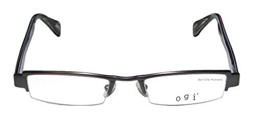 ogi-2200-mens-womens-ophthalmic-in-style-designer-half-rim-eyeglasses-eyeglass-frame-48-19-140-gray-