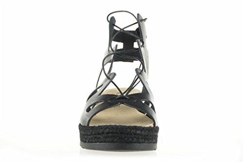 LINCE-ROMANA LEGATO sandali neri