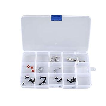 15 Ranuras para celdas Caja de herramientas portátil Piezas electrónicas Perlas Tornillo Anillo Joyería Componente Caja Caja de almacenamiento de plástico ...