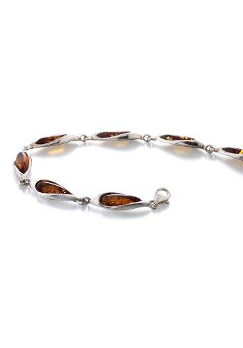 Bracelet Femme Argent Fin - 925/1000 Ambre 20 cm