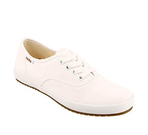 Taos Footwear Women's Guest Star White Canvas Fashion Sneaker 7.5 M US