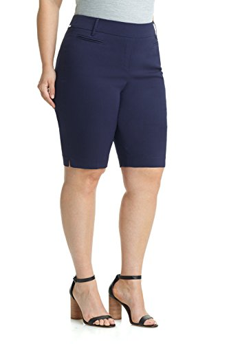Rekucci Women's Ease In To Comfort Curvy Fit Plus Size Modern City Short (14W,Navy) by Rekucci (Image #1)