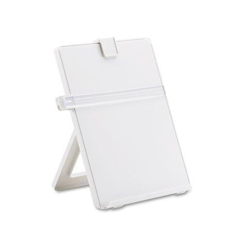Non-Magnetic Desktop Copyholder, Plastic, 125 Sheet Capacity, Platinum, Sold as 1 Each ()