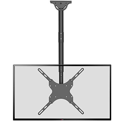 TV Ceiling Mount Adjustable Bracket Fits Most LED, LCD, OLED and Plasma Flat Screen Display 26 to 65 inch, up to 110 lbs, VESA 400 by 400mm (CM2665), Black by WALI (Ceiling Tv Mounts For)
