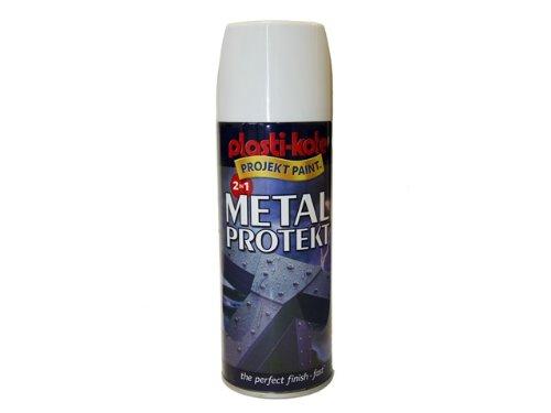 Plasti-kote 1286 400ml Metal Protekt Gloss - White PKT1286 B000VI28F6