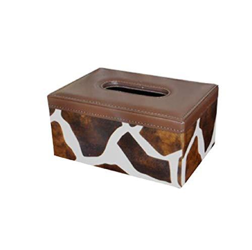 Yguuio Caja de pañuelos de Cuero bandejas de la Sala Toallas de Papel Creativas de Bombeo Servilletas domésticas tamaño...