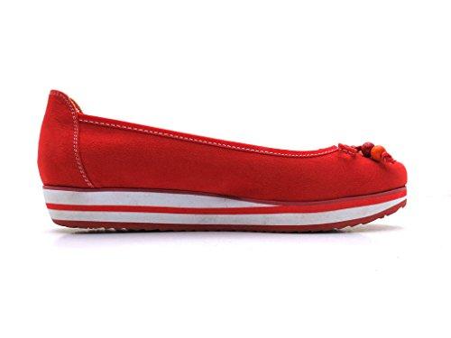 Marco Tozzi - Bailarina - Zapatillas De Tacón De Cuña Rojo