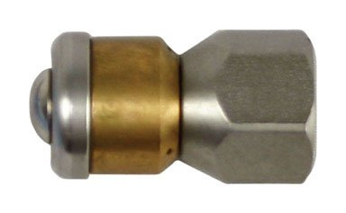 Forney 75142 Pressure Washer Accessories, Sewer Nozzle, Rotating, 1/4-Inch Female NPT-by-5.5mm, 4,000 PSI