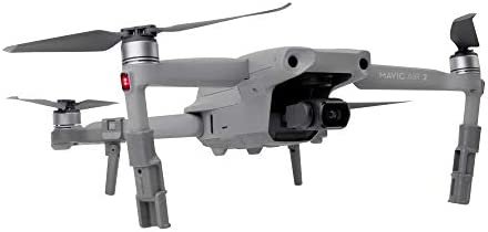Flycoo Train d'atterrissage pour DJI Mavic AIR 2 Landing Gear Pliable Augmentation en 3 étapes Drone Protection Jambe Pied